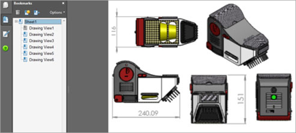CAD-Models-Different-Views-With-Dimensions