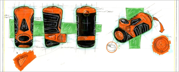 Concept-Development-Drawing-Orange-Inhaler