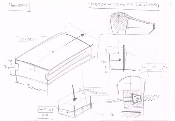 Concept-Technical-Sketching-Motor-Housing