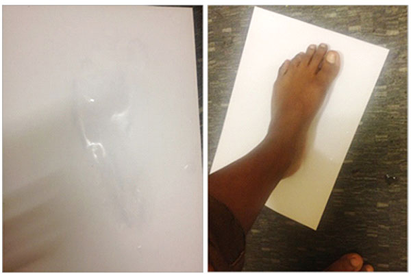 Product-Concept-Science-Test-Wet-Foot-on-paper