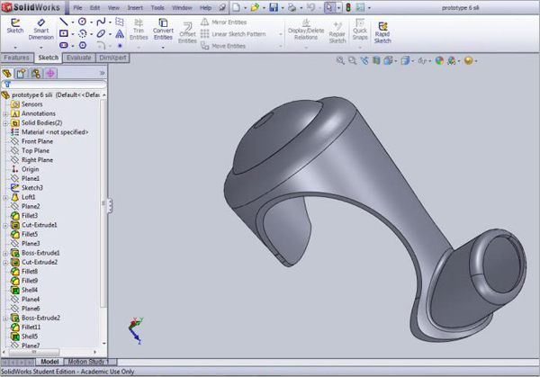 SolidWorks-Model-Body-Skin