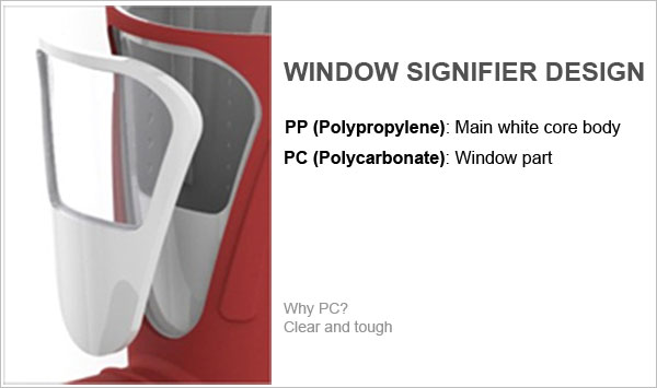 Window-signifier-material-selection