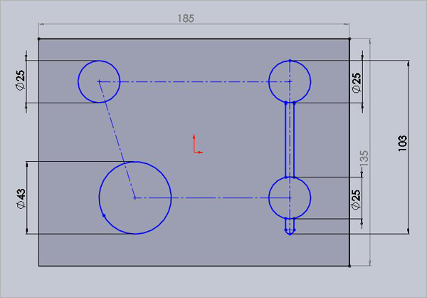 SolidWorks-CAD-Model-Sketch-Plate-Development-Design