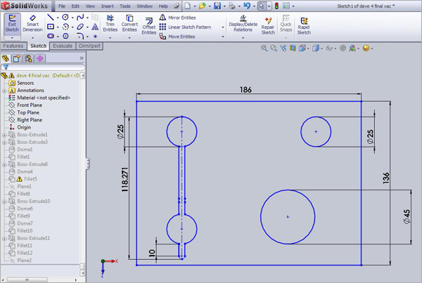 SolidWorks-CAD-Sketch-Model-Modified-Design