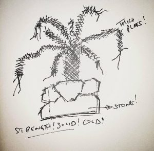initial-doodle-sketch-staying-strong-wire-sculpture-tree-by-weaam-hassan